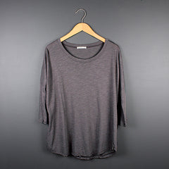 Grey Scoop Neck T-shirt