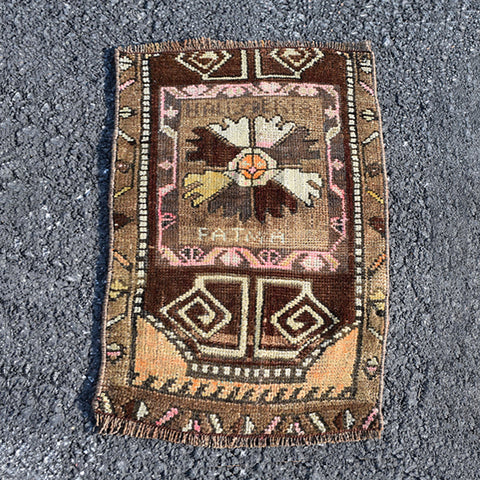 ".Multi Colored Small Turkish Rug - 1' 4"" x 2' 1"""