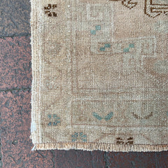 "Multi Colored Handwoven Small Turkish Rug - 1' 8"" x 3' 1"""