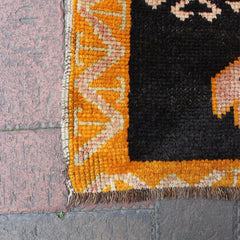"Multi Colored Handwoven Small Turkish Rug - 1' 8"" x 2' 7"""