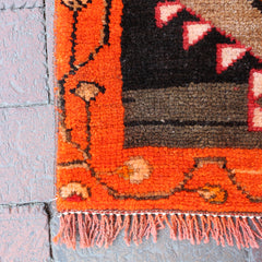 "Multi Colored Handwoven Small Turkish Rug - 1' 8"" x 2' 9"""