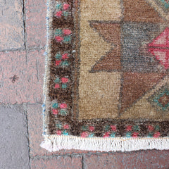 ".Multi Colored Handwoven Small Turkish Rug - 1' 4"" x 2' 9"""