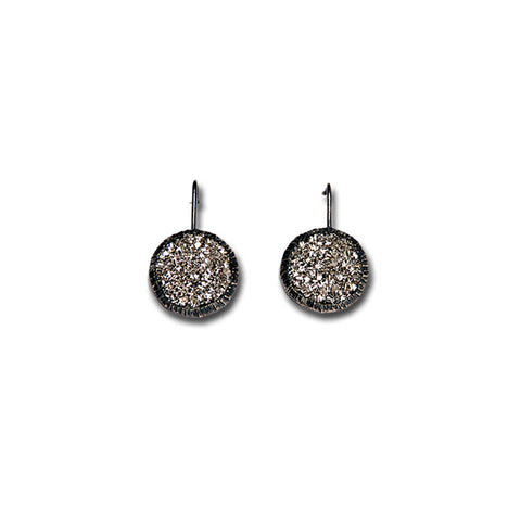 Black Sparkler Fixed Hook Earrings