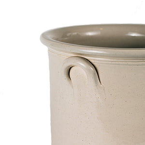 .Cream Stoneware Crock - XL