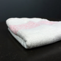 Pink Striped Cotton Hand Towel