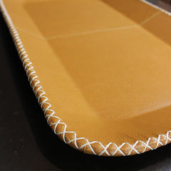 Tan Faux Leather Tray