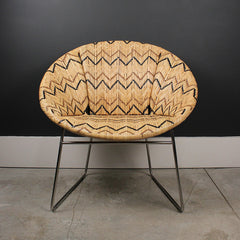Brown Handwoven Rattan Chair