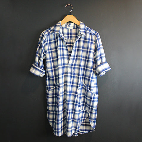 .Blue Plaid Teton Tunic