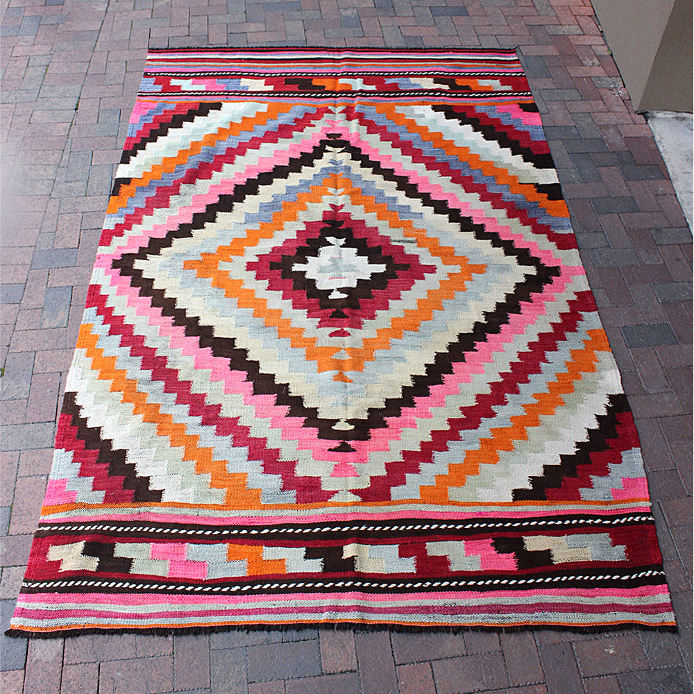 Handwoven Turkish Rug 9 4 x 6 3 The Tiny Finch