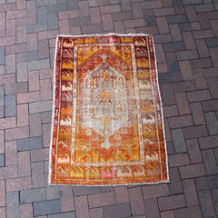 "Multi Colored Handwoven Turkish Rug - 2' 11"" x 4' 4"""