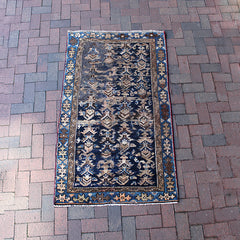 "Multi Colored Handwoven Turkish Rug - 3' 1"" x 5' 4"""