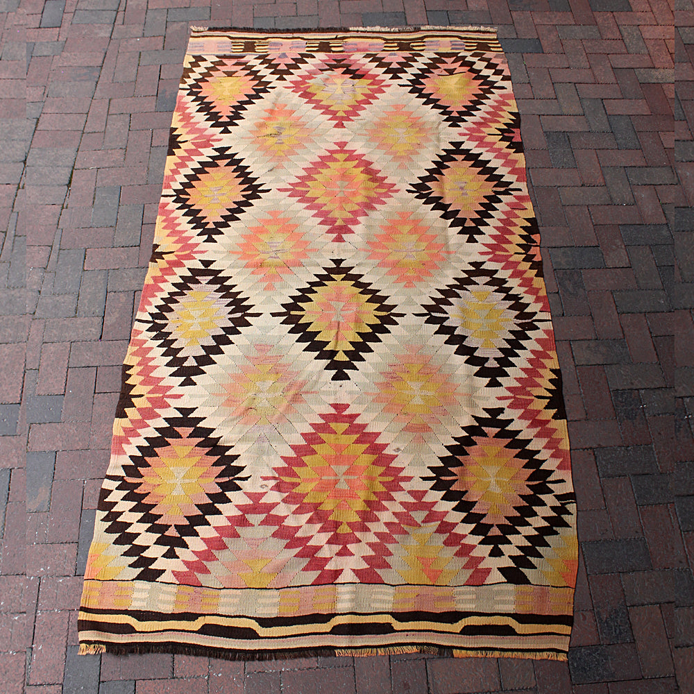 "Handwoven Turkish Rug - 4' 8"" x 8' 9"""