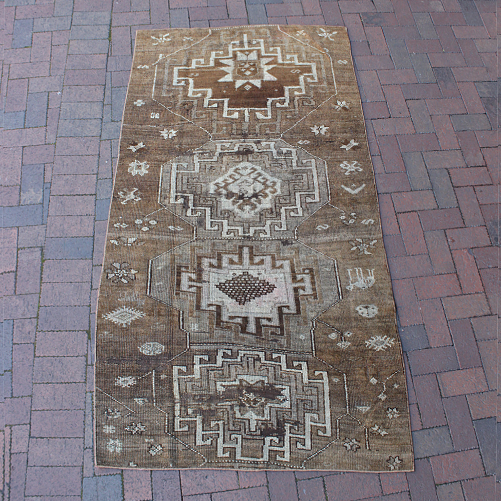 "Multi Colored Handwoven Turkish Rug - 3' 11"" x 7'"
