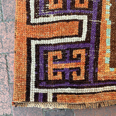 "Multi Colored Handwoven Turkish Runner - 3' 6"" x 9' 7"""