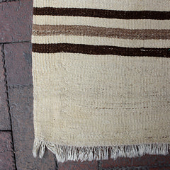 "Brown Handwoven Turkish Rug - 4' 10"" x 7' 2"""