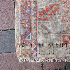 "Multi Colored Handwoven Turkish Rug - 3' 6"" x 5' 2"""