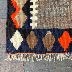 "Multi Colored Handwoven Turkish Rug - 3' 1"" x 4' 8"""