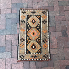 "Handwoven Turkish Rug - 1' 10"" x 3' 1"""