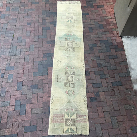 ".Vintage Turkish Rug - 2' 4"" x 12' 9"""