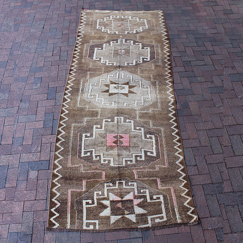 ".Multi Colored Handwoven Turkish Runner - 5' 4"" x 8' 1"""