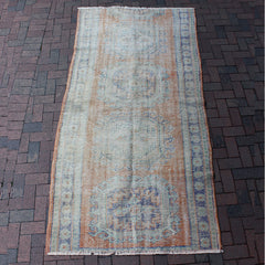 "Multi Colored Handwoven Turkish Runner - 4' 3"" x 9'"