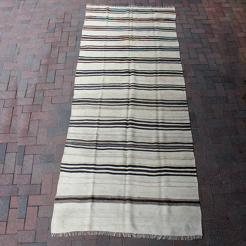 ".Brown Handwoven Turkish Runner - 4' 2"" x 10' 4"""