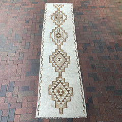 "Multi Colored Handwoven Turkish Runner - 2' 11"" x 10' 10"""