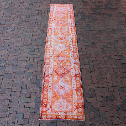 "Multi Colored Handwoven Turkish Runner - 2' 9"" x 13'"