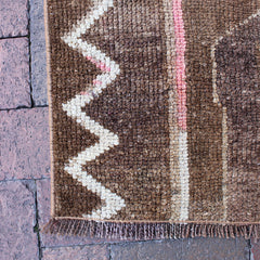 "Multi Colored Handwoven Turkish Runner - 5' 4"" x 8' 1"""