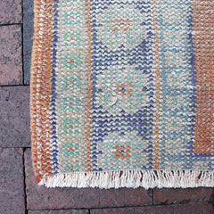".Multi Colored Handwoven Turkish Runner - 4' 3"" x 9'"