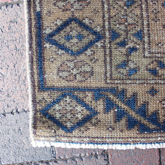 "Multi Colored Handwoven Turkish Runner - 3' 1"" x 10' 1"""