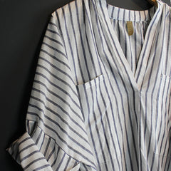White + Grey Stripe Shirt