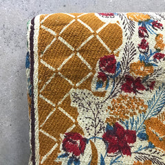 Vintage Handwoven Printed Throw