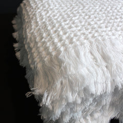 White Handwoven Cotton Bath Towel