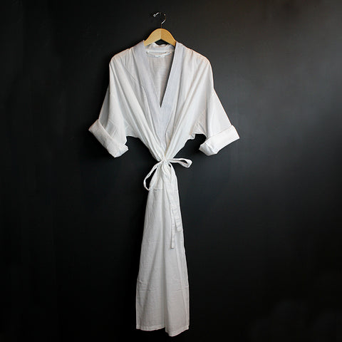 White Cotton Robe