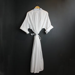 .White Cotton Robe