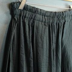 Black Cotton Wide Pants