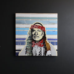 .Multi Colored Willie Nelson Art