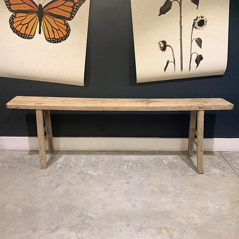 .Brown Elm Wood Console
