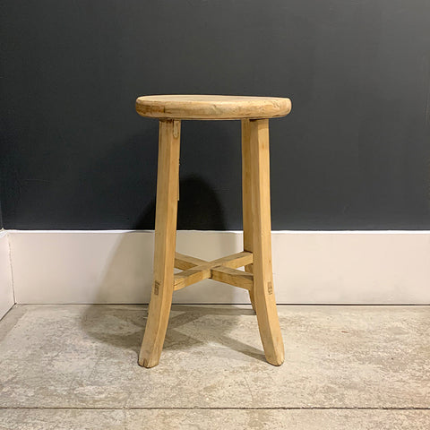 .Brown Wood Stool