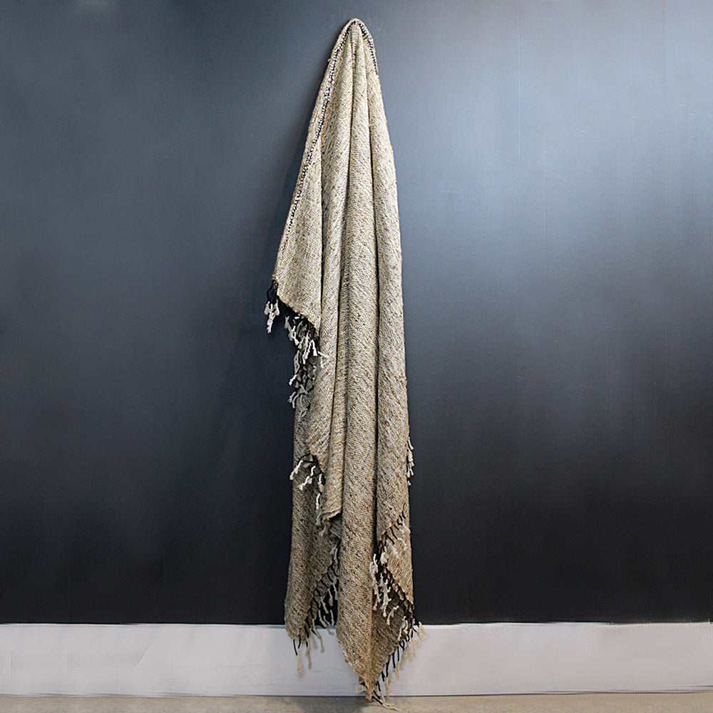 Brown Silk + Cotton Blanket