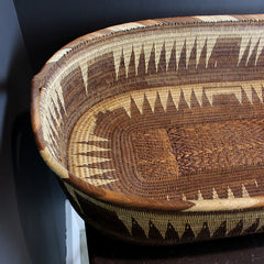 Brown Handwoven Oval Basket