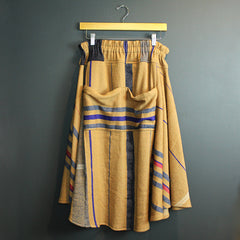 Multi Colored Cotton + Wool Skirt