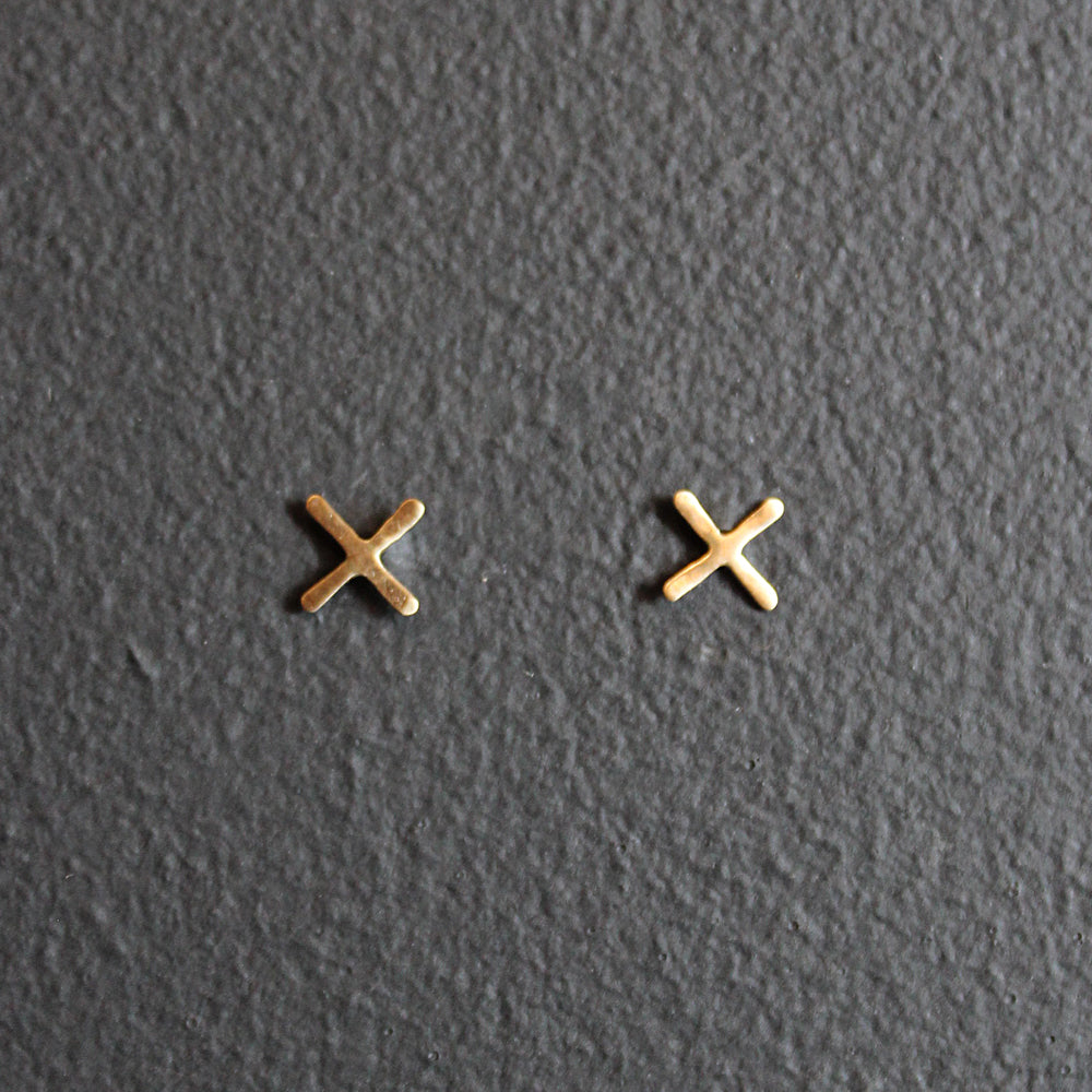 Gold 14K X Earrings