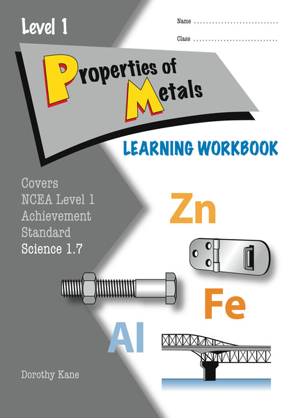 Level 1 Properties of Metals 1.7 Learning Workbook