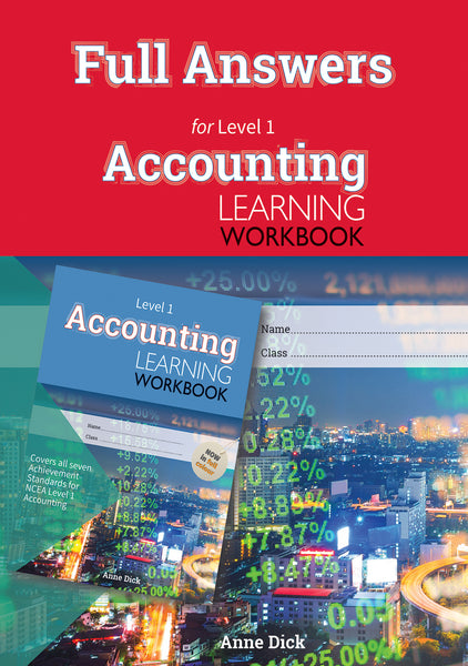 Full Answers for Level 1 Accounting Learning Workbook