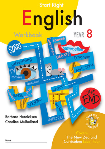 Year 8 English Start Right Workbook