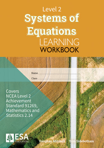 Level 2 Systems of Equations 2.14 Learning Workbook (new edition)