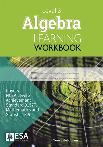 Level 3 Algebra 3.5 Learning Workbook (new edition)