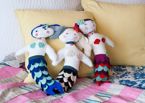 whimsical stuffed mermaids